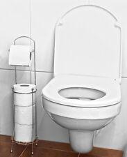 Free Standing 4 Rodillo Baño papel higiénico Tejido Dispensador de almacenamiento del sostenedor del soporte