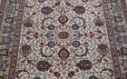 """ANTIQUE KASHANN SIGNED FLORAL HAND KNOTTED WOOL ORIENTAL RUG CLEANED 4'7"""" x 7'"""