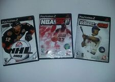 Lot Of Playstation 2 Games NBA 2k11 Major League Baseball 2k8 NHL 2003 Preowned