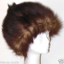 Cappello pelliccia donna VOLPE pelliccia marrone colbacco tgl 58 G040 181385e58541