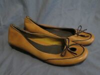 New Women's Aerosoles Printz Charming Tan Brown Flats Slip On Leather Shoes 9.5