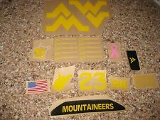 West Virginia Mountaineers  Yellow 20 mil 3M vinyl decals