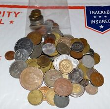 BULK lot of 100 MIXED WORLD COINS foreign NUMEROUS COUNTRIES no duplicates
