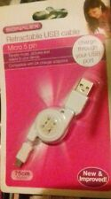 USB DATA SYNC RETRACTABLE CHARGING CHARGER CABLE iPHONE 4 4S 3G 3GS iPAD 2 iPOD