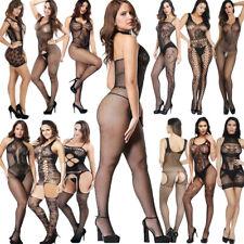 Sexy Womens Bodysuit Body Stocking Lingerie Fishnet Babydoll Nightwear Sleepwear