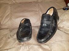 FREEMAN Men Black Leather Slip On Dress Loafer Shoes Size 11