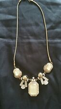 Art Deco style Diamante and Gold Tone Necklace