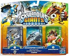 Skylanders Swap Force Triple Pack DRAGONFIRE CANNON CHOP CHOP PC WII PS3 XBOX