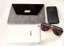 Hugo Boss Envelope Clutch Purse Bag Black Gray Wallet gift New