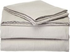 Pointehaven Heavy Weight Solid Flannel 100-Percent Cotton Sheet Set, Sage, Full