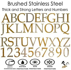 "Stainless Steel Door Numbers & Letters 3""- 75mm Solid House Flat Apartment"