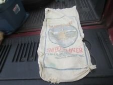 VINTAGE LAND O LAKES SWEET CLOVER  FEED SEED SACK BAG INDIAN MAIDEN CLOTH AS IS