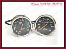Smith Replica Speedometer Tachometer Pair 150 MPH Black For Royal Enfield