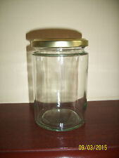 GLASS JARS 370ml IDEAL FOR HONEY, JAMS OR CHUTNEY MAKING X 36