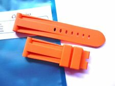 Rubber strap in 24mm - Orange 24/22mm fits your Panerai