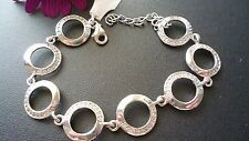 STUNNING 925 SOLID STERLING SILVER ZIRCONIA  BRACELET MADE IN ITALY PERFECT GIFT