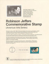 #7313 8c Robinson Jeffers #1485 Stamp Souvenir Page
