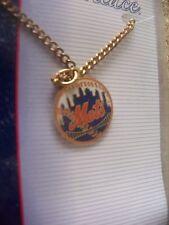 NY New York Mets skyline logo gold tone necklace