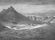 ARIZONA. Fort Bowie, Arizona, in the Country of the Apaches 1890 old print