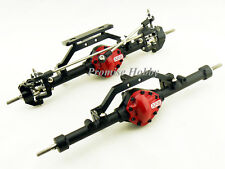 Black complete alloy front & rear axle for 1/10 rc crawler D90 scx10 rc4wd ARB