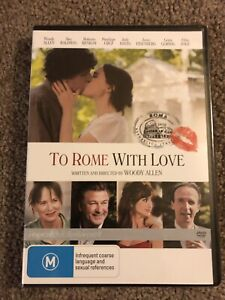 Woody Allen's To Rome With Love DVD New & Sealed Region 4