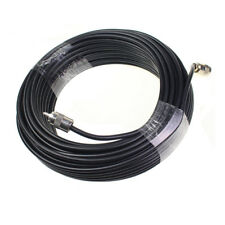 NEW 100 ft RG8X coax coaxial UHF PL259 connectors amateur CB radio antenna cable