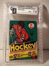 1977-78 O Pee Chee Hockey WHA Wax Pack GAI NM+ 7.5 Howe, Hull NHL Cards