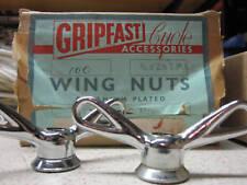 PASHLEY GUVNOR GRIPFAST VINTAGE BIKE BICYCLE HUB WING NUTS ENGLAND NOS 3/8 - 26