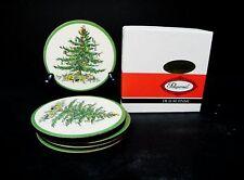 Spode Christmas Tree  6 piece set of Coasters (Melamine with Cork Bottoms)  ..