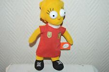 PELUCHE THE SIMPSON LISA MAILLOT FOOT ESPAGNE 10 POUPEE DOLL PLUSH  25 CM