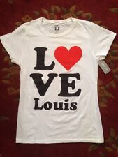 1D One Direction Heart �� Love StLouis Tomlinson Skinny T Cotton Sz Xl Nwt$26.50