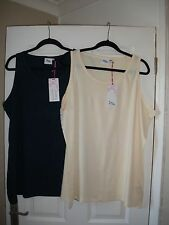 pack of 2 ladies  vest tops from Just Me size 24/26 NEW