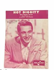 Hot Diggity Dog Ziggity Boom Sheet Music 1956 Perry Como Al Hoffman Standard