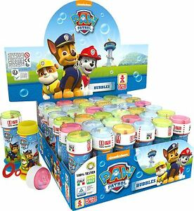 Paw Patrol Blue Boys Bubble Blowing Tubs Childrens Party Bag Filler Toys