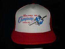 trucker hat baseball cap JUNIOR WORLD CHAMPIONSHIP FARGO ND rare cool rare nice