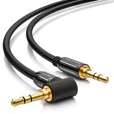 deleyCON HQ Klinken Kabel 90 Grad gewinkelt [3m] 2x 3,5mm Klinken Stecker (90°)