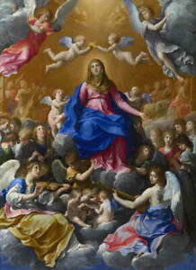 Guido Reni The Coronation of the Virgin Poster Reproduction Giclee Canvas Print