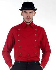 Steampunk Victorian Costume Red Airship Shirt C1290