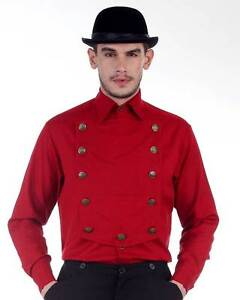 Steampunk Victorian Costume Red Airship Shirt C1290