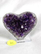 10) Amethyst + Agate Heart Purple Quartz Geode Crystal Great Gift