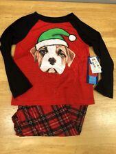 Christmas DOG Pajamas plaid Komar Kids Brand Size XS 4 5 PS kids Aeropostale