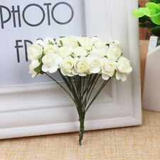 144PCS 1cm Head Artificial Paper Rose Flowers Bouquet Party Wedding Decoration