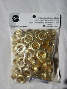 """Dritz 7/16"""" Extra-Large Eyelets & Tools 72 Sets BK126"""