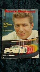 1967 SPORTS ILLUSTRATED MAGAZINE JIM HALL &THE CHAPARRAL COVER AUTORACING GIANTS