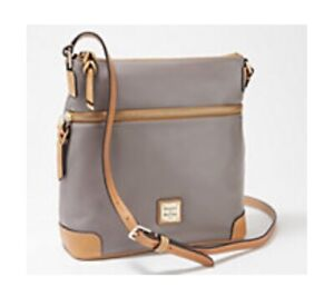 Dooney & Bourke Wexford Smooth Leather Crossbody - Taupe