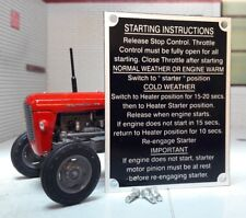 MASSEY FERGUSON MF135 135 Tracteur de démarrage instructions Plaque & rivets 1964 >