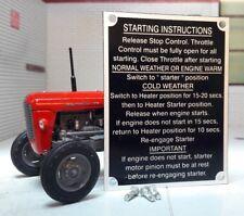 Massey Ferguson MF135 135 trattore a partire istruzioni Piastra & Rivetti 1964 >