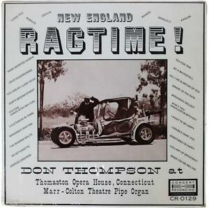 DON THOMPSON New England Ragtime SEALED LP 1972 Marr Colton Pipe Organ Grinder