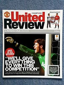 Manchester United v Athletic Club Bilbao 8th March 2012 Programme Europa League