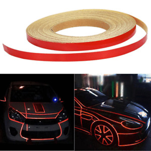 46M Reflective Body Stripe Red Self-Adhesive Tape Sticker DIY For Car Motorcyle